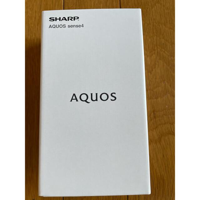 AQUOS(アクオス)の【新品未開封】AQUOS Sense4 SH-M15 ブラック スマホ/家電/カメラのスマートフォン/携帯電話(スマートフォン本体)の商品写真