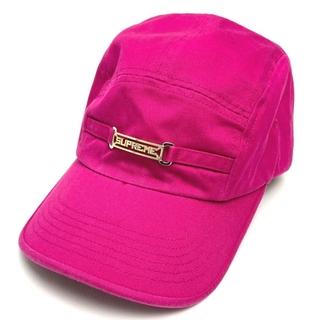 シュプリーム(Supreme)のSupreme シュプリーム ロゴ金具 帽子 ベルト金具 ピンク(キャップ)