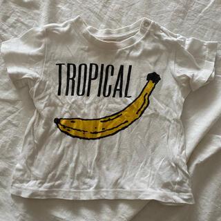 petit main - プティマイン 半袖Tシャツ 90 バナナ 白T