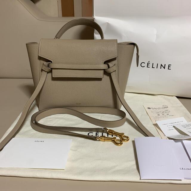 celine(セリーヌ)のCELINE セリーヌ ベルトバッグ マイクロ ライトトープ レディースのバッグ(ショルダーバッグ)の商品写真