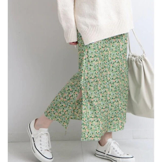 IENA - IENA  ウィステリアフラワースリットスカート