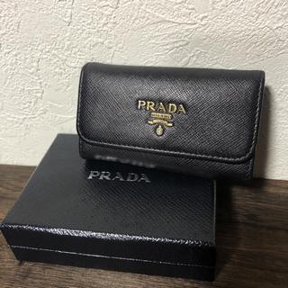 PRADA - PRADA プラダ サフィアーノ キーケース バイカラー