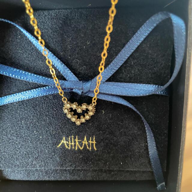 AHKAH(アーカー)の定価6万5千円 アーカー ハート ダイヤ ネックレス レディースのアクセサリー(ネックレス)の商品写真