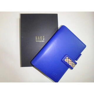 ダックス(DAKS)のDAKS ダックス クロスライン ハウスチェック 青 B7 システム手帳(手帳)