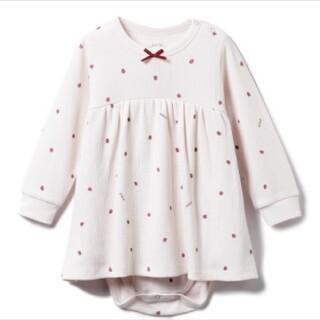 gelato pique - 【BABY】ストロベリー baby ワッフルロンパース ジェラートピケ