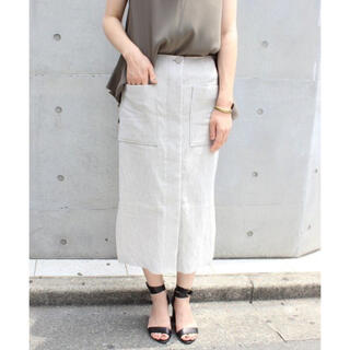 Noble - Noble リネンタイトスカート