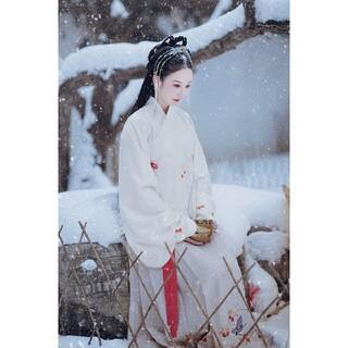 中国刺繍漢服2点セット 長袖トップス ロングスカート 卒業式 発表会(衣装一式)