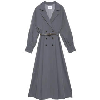 Ameri VINTAGE - Ameri VINTAGE  LONG COAT LIKE BELT DRESS