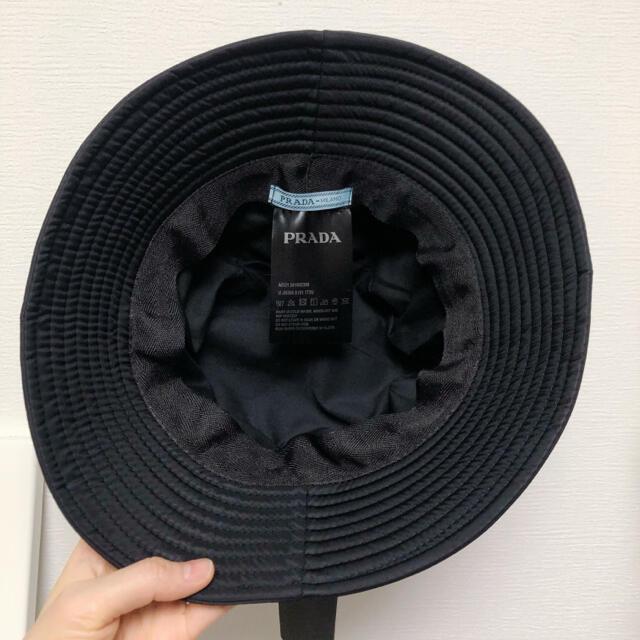 ♡セール中♡ PRADA プラダ 帽子 バケットハット 黒 レディースの帽子(ハット)の商品写真