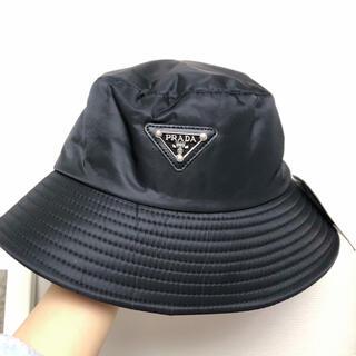 ♡セール中♡ PRADA プラダ 帽子 バケットハット 黒