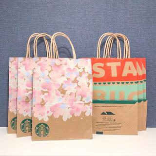 Starbucks Coffee - スターバックス クリスマス さくら サクラ 6枚 ショップ袋 ショッパー スタバ