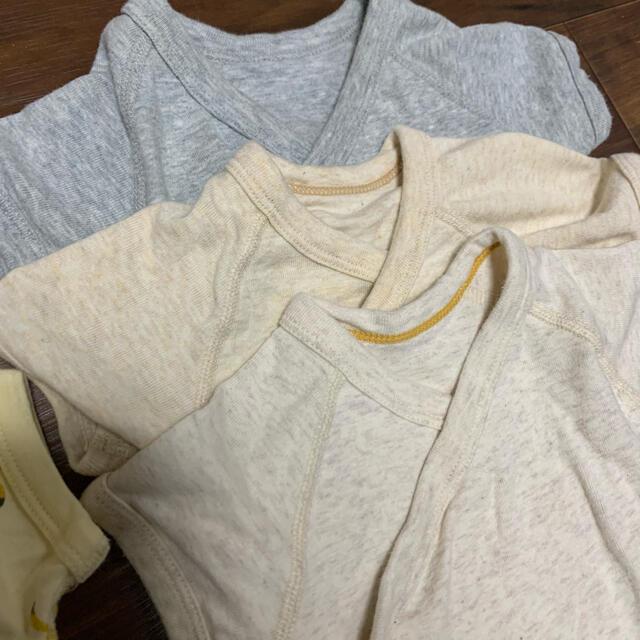 UNIQLO(ユニクロ)のユニクロ 半袖ロンパース 肌着 3枚セット キッズ/ベビー/マタニティのベビー服(~85cm)(肌着/下着)の商品写真