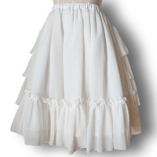 Victorian maiden - フリルシフォンアンダースカート