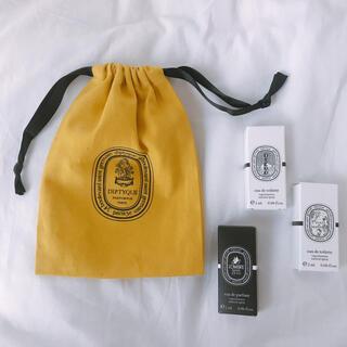 ディプティック(diptyque)の𓆸diptyqueお試しサイズ3種類【2ml】+巾着付(香水(女性用))