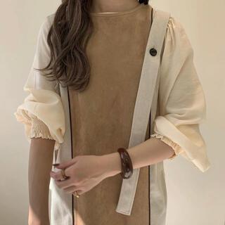TODAYFUL - amiur  two tone suede long vest