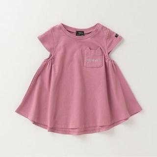 petit main - 《プティマイン》ネコポケット Aライン Tシャツ 110