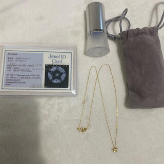 4℃ - festaria 18K 天然ダイヤ ネックレス