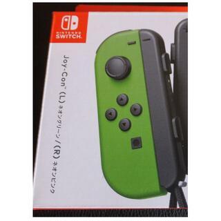 ニンテンドースイッチ(Nintendo Switch)の未使用 Joy-Con (L)ネオングリーン(左用)+ストラップ黒系(家庭用ゲーム機本体)