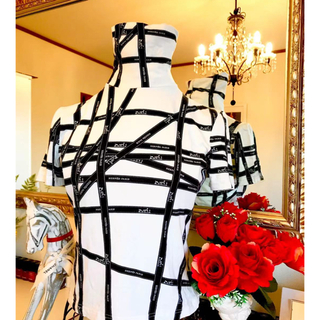 Hermes - 美品 エルメス リボン柄 半袖カットソー