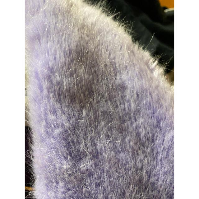 Bubbles(バブルス)のFaith Tokyo fake fur blouson(purple) レディースのジャケット/アウター(ブルゾン)の商品写真