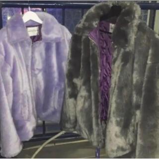 バブルス(Bubbles)のFaith Tokyo fake fur blouson(purple)(ブルゾン)