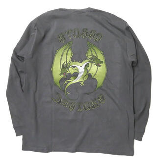 STUSSY - STUSSY ドラゴンプリント ロングスリーブポケットTシャツ L メンズ