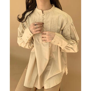 TODAYFUL - Amiur 今シーズン 新商品 pin turk blouse  (beige)