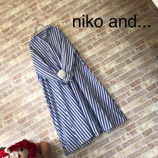 niko and... - niko and...【美品】ストライプシャツワンピース