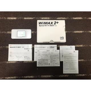 【美品】 Speed Wi-Fi NEXT W06 ホワイトxシルバー