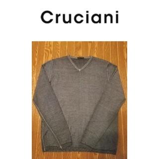 クルチアーニ(Cruciani)の極美品‼️ Cruciani クルチアーニ ニット グレー サイズ46(ニット/セーター)