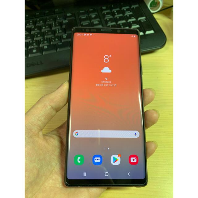 SAMSUNG(サムスン)のSamsung note 9 128Gb SIMフリー スマホ/家電/カメラのスマートフォン/携帯電話(スマートフォン本体)の商品写真