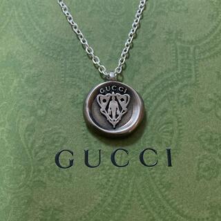 Gucci - GUCCIヴィンテージ クレスト 紋章 コイン ペンダントトップ ネックレス
