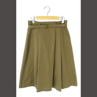 ANAYI - アナイ ANAYI 18SS スカート フレア 膝丈 ベルト付き 38 カーキ