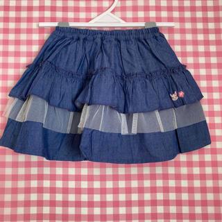 クーラクール(coeur a coeur)のクーラクール ブルマ付スカート ネイビーブルー 100(パンツ/スパッツ)