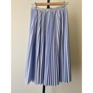 サカイラック(sacai luck)のメイ様専用 sacai プリーツスカート インナーレース 水色 スカイブルー(ロングスカート)