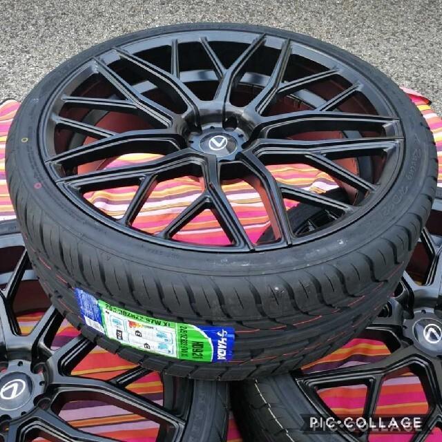 トヨタ(トヨタ)のレクサス トヨタ ハリアー ヴァンガード NX MBK 22インチ タイヤ付き 自動車/バイクの自動車(タイヤ・ホイールセット)の商品写真