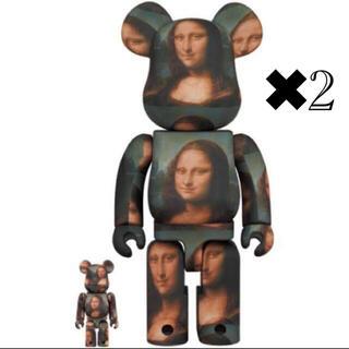 メディコムトイ(MEDICOM TOY)のBE@RBRICK LEONARD DE VINCI Mona Lisa 2体(その他)