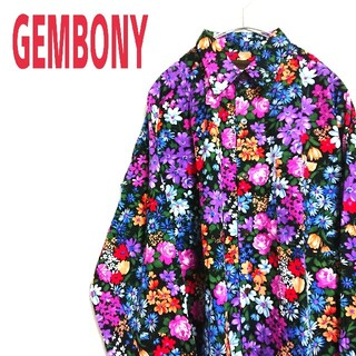 ART VINTAGE - GEMBONY アートビンテージ  ビッグサイズ 花柄シャツ ART デザイン