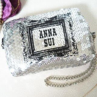 ANNA SUI - 【ANNA SUI】未使用アナスイ  スパンコール ポーチ ミニチェーンバッグ