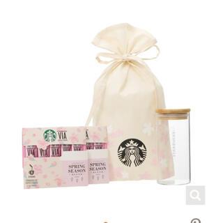 Starbucks Coffee - スターバックス ガラスキャニスター付き ヴィア スプリングシーズン5本