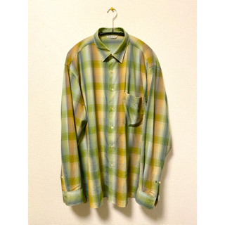 AURALEE  SUPERLIGHT WOOL CHECK SHIRTS