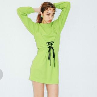エックスガール(X-girl)のX-girl tシャツワンピース Mサイズ(ミニワンピース)