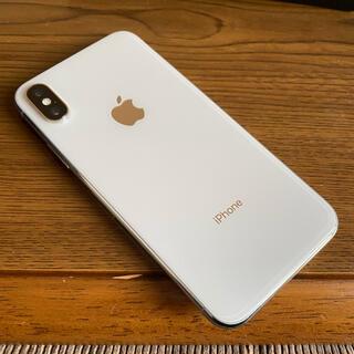 アップル(Apple)のiPhoneX シルバー 64GB(スマートフォン本体)