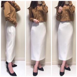 MICHEL KLEIN - 美品*綺麗めコーデ▷クルーネックカーディガン&前後2wayスリットロングスカート