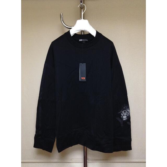 Y-3(ワイスリー)の新品■XXL■y-3 19ss■YOHJI スカル刺繍 スウェット■黒■9761 メンズのトップス(スウェット)の商品写真