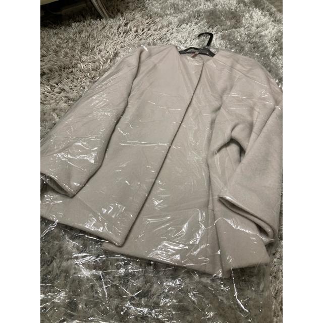 IENA(イエナ)の20AW◆ビーバーショートコート◆ナチュラル◆36サイズ レディースのジャケット/アウター(ノーカラージャケット)の商品写真