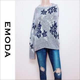 EMODA - EMODA SPOT FLOWER ニット*ジーナシス ムルーア GYDA