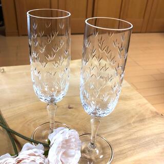 ティファニー(Tiffany & Co.)のTiffany & Co. クリスタル シャンパングラス 2set(グラス/カップ)