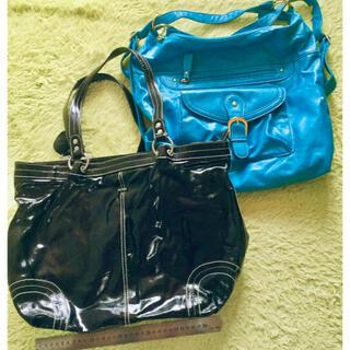 kate spade new york - 【PICARD ピカード】黒のショルダーバッグと青のブランド バッグ