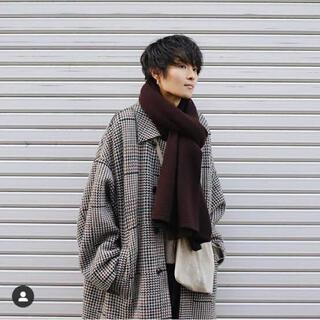 サンシー(SUNSEA)の【美品】YOKE / 7G アルパカストール / ネイビー(マフラー)